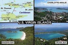 SOUVENIR FRIDGE MAGNET of THE U.S. VIRGIN ISLANDS