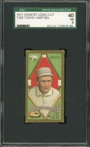 1911 T205 Hartsel - Philadelphia Athletics - SGC 40
