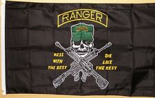 Army Rangers Flag 3' x 5' Deluxe Classic Silk Screened Indoor Outdoor Banner