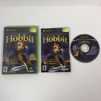 The Hobbit XBOX (Microsoft Xbox, 2003) Complete w/ Manual, Tested, Works