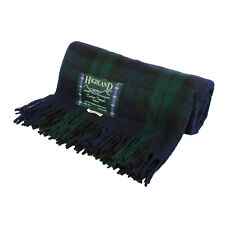 Scottish Highland Tartan Tweeds Wool Tartan Rug/Blanket Available in 18 colours