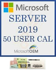 Windows Server 2019 Standard / Datacenter 50 USER Client Access Licenses CALs