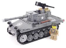 WW2 Custom Panzer M18 Hellcat   mit Figur US Soldat + Zubehör, aus LEGO® Steinen