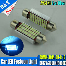 2x Festoon Bulb CANBUS 39mm  SMD 3014 LED C5W C10W 300lm Interior Light ICE BLUE