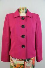 Kasper Womens Deep Pink Blazer Suit Jacket Size 6P Career Business Four Button