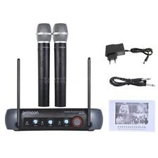 Ammoon Dual Channel Wireless Handheld Microphone System For Karaoke Party A7V7