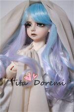 Bjd Doll Wig 1/3 8-9 Dal Pullip AOD DZ AE SD DOD LUTS Dollfie blue pink curly