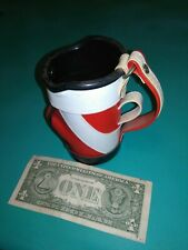 New listing Miniature Golf Bag Koozie Cooler Can Drink/pen Holder 5 Inches Red Black White-