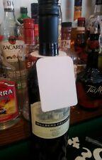 50 x Bouteille Vin Papier Blanc nom/Cadeau/Cave Tag/étiquettes/Cintres Mariage Neuf