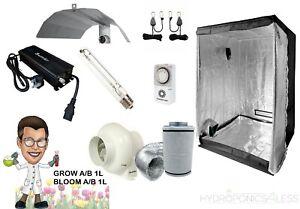 Complete Tent Digital Kit 600w Hydroponics Grow Carbon Filter Nutrients 0.8m2