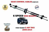 FOR FORD TRANSIT 6 SPEED RWD 2.4 TDCI 2006-2014 NEW GEAR CONTROL CABLE 1749585