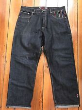 Coogi Jeans Mens Pants Loose Fit Baggy Size 40 x 34 Hipster Hippie Hip Black
