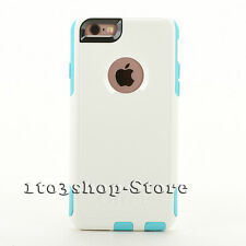 OtterBox Commuter Hard Snap Cover Case for iPhone 6 & iPhone 6s White/Aqua Teal