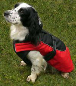 Rosewood All Weather Reflective Water-Resistant Fleece Dog Coat 22-24 Inch Red