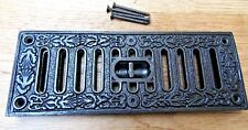ORNATE DECORATIVE -Cast Iron Victorian air Brick with Sliding Vent cover Repro