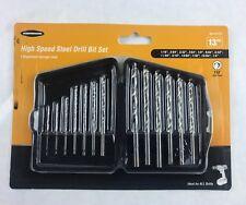 Warrior High Speed Steel Drill Bit Set 13 Piece 118 Split Point w/ Storage Case