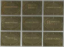 """James Bond 50th Anniversary S2 - """"Gold Plaque Poster"""" 11 Card Chase Set P12-22"""