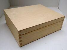 * Pine wood 9 compartment tea box 24x21x8CM RN04 chest caddy storage