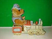 Lenox Teddy Bear Limited Edition Porcelain Train w/ Steiff Animal Sculpture GRS