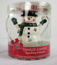 Yankee Candle Sparkling Cinnamon Snowman Luminary Tea Light Warmer Holder NEW