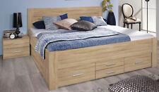 Rauch Bett mit 6 Schubkästen Eiche Sonoma Funktionsbett Stauraumbett 3 Breiten