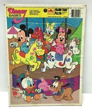 Golden Disney Babies Frame Tray Puzzle 1986 for Kids Children