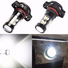 2x 50W CREE 5202 H16 6000K HID White LED Bulb Fog Driving Daytime Running Light