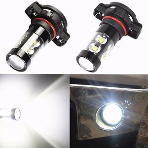 2x 50W CREE 5202 H16 6000K POWER Super White LED Fog Lights Driving Bulbs DRL