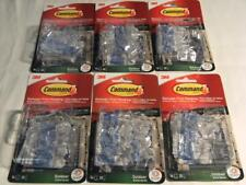 3M Command Hooks, clips. Lot of 6 packs, 96 light clips.Great for outdoor lights