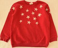 ZARA Pullover 104 110 Cardigan Sweatshirt Shirt Hoody rot Glitzer Sterne Longsle