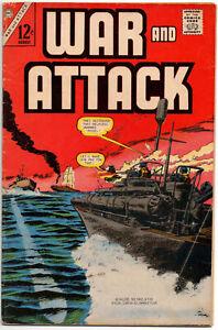 WAR AND ATTACK, Vol. 2 #61 - Aug 1967 - Charlton Comics Silver Age War Classic!