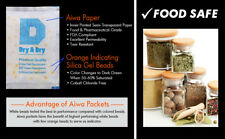 "50 gram X 120 PK ""Dry & Dry"" Food Grade Orange Indicating Silica Gel Packets"