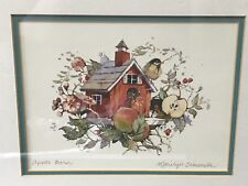 Apple Barn Birdhouse Watercolor Print By Marilyn Simandle, Framed & Matted