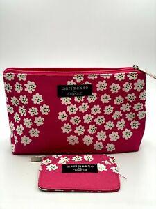 MARIMEKKO for CLINIQUE Pink Makeup Cosmetic Bag + Mini coin bag Choose Qty NEW