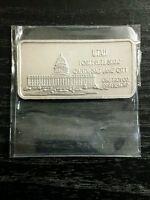 Utah State USA 1oz silver bar 1 troy oz fine bullion 999 Hamilton Mint