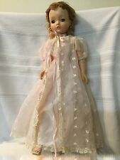 Vintage Madame Alexander 20 Inch Blonde Hair Cissy Doll Pink Negligee Gown Shoes