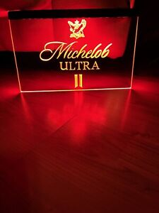 MICHELOB ULTRA LED NEON RED LIGHT SIGN 8x12