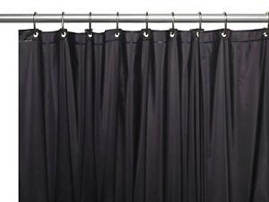 "Shower Curtain Liner: Metal Grommets, Magnets, Standard Size 70"" x 72"""