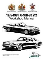 1975-1991 JAGUAR V12 XJ-S XJ-SC 5.3L + 5.3L HE WORKSHOP SERVICE REPAIR MANUAL