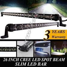 26Inch 120W Spot LED Light BAR Work Light Boat SUV Offroad for Jeep  ATV 4x4 12V