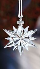 SWAROVSKI 2017 CHRISTMAS ORNAMENT LARGE CLEAR 5257589 MINT BOXED RETIRED RARE