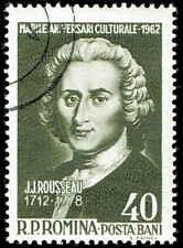 Scott # 1486 - 1962 - ' Jean Jacques Rousseau '