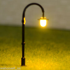 25 x N scale Model Lampposts warm white LEDs made longlife street lights #005N