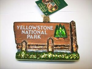 Old World Christmas YELLOWSTONE NATIONAL PARK (36173)N Glass Ornament w/Box