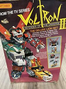 Voltron Matchbox 1984 Defender III (3) Deluxe Lion set With Box *RARE* Read