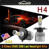 2 x H4 72W 16000LM S2 LED Headlight Car Hi/Lo Beam Headlamp Bulbs 6000K 9003 HB2