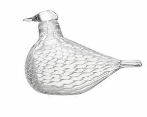 Iittala OIVA TOIKKA Art Glass Bird  Sovinnon Kyyhky, Reconciliation Dove New