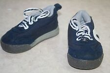 r- SHOES BABY SZ 3 BLUE CANVAS LACE UP TENNIS SNEAKERS