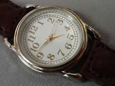 "Quartz ladies watch nice 7 1/4"" leather band, smaller size keeps great time A+"