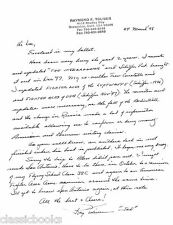 Raymond F. Toliver Signed  Letter  WWII Aviation